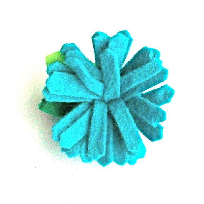 Day 21- Teal Mum with Pinked Petals