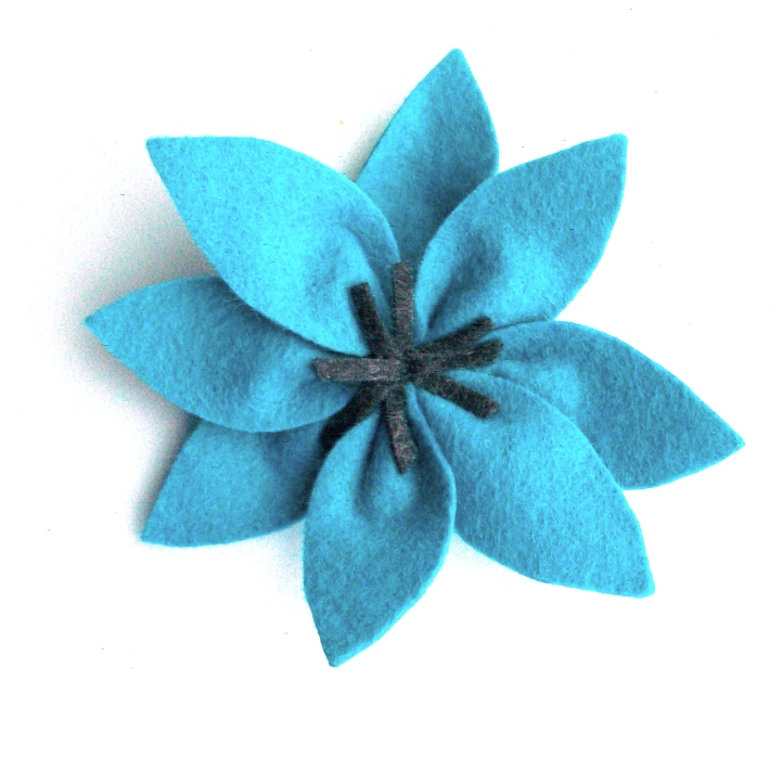 Day 23- Large Teal Flower