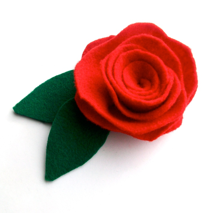 Day 03- Red Felt Rose