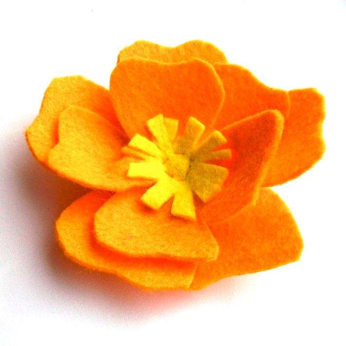 Day 07- Felt Orange Poppy