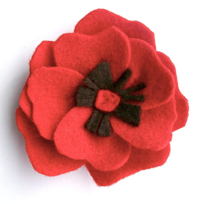Day 09- Red Felt Poppy