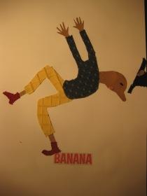 banana peel collage, 001