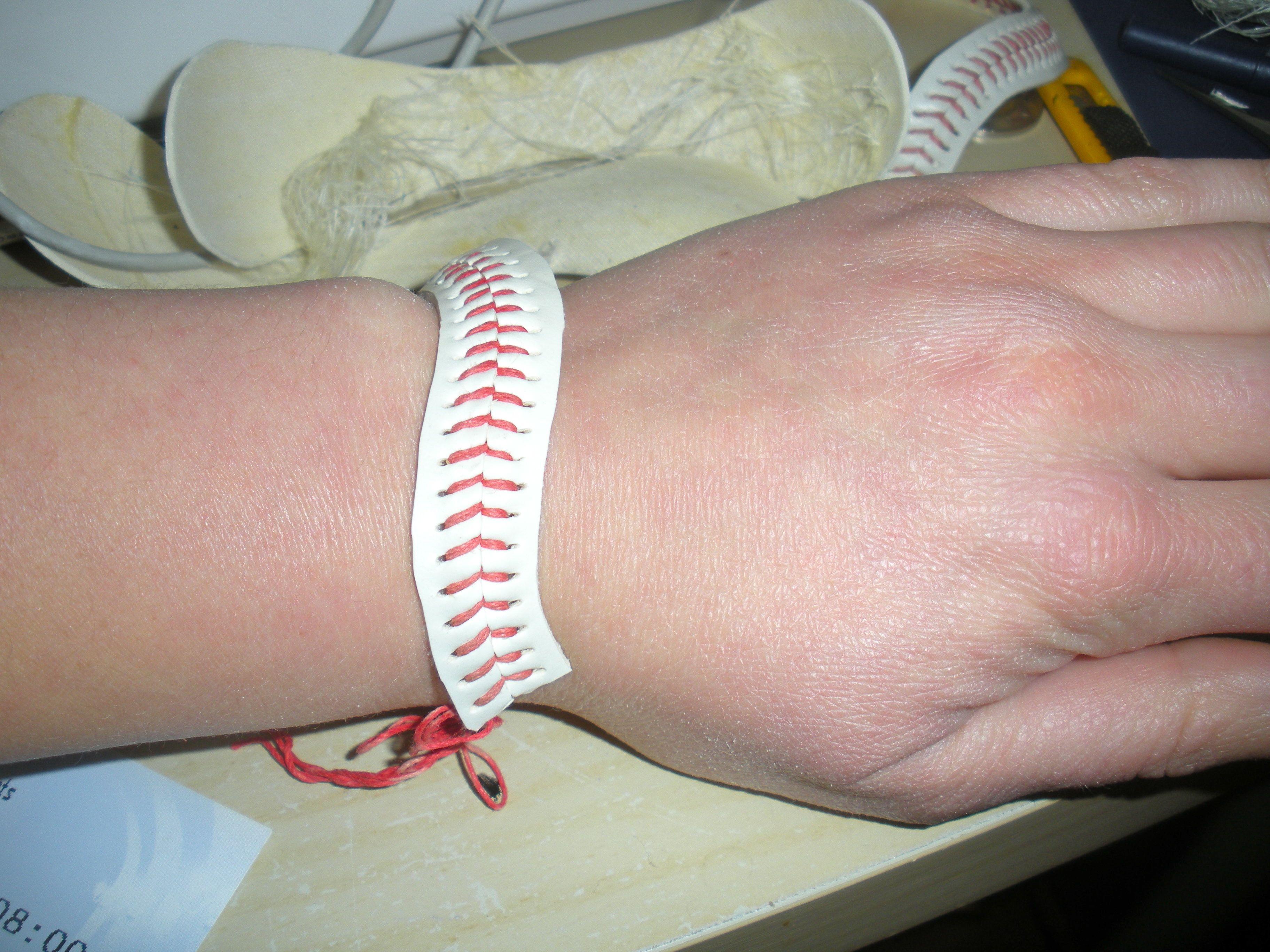 baseball bracelet thingaday forever