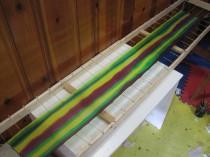 Mardi Gras silk scarf