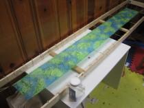 Aqua/Green silk scarf