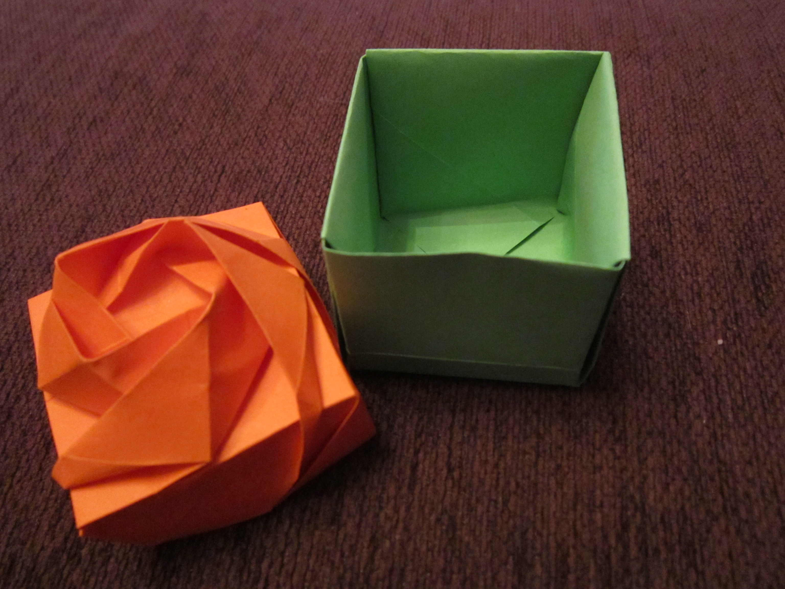 Tad 3 Rose Origami Box Thing A Day Forever