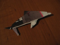 Origami dolphin