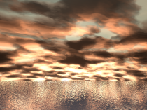 Sky and water made with POV-Ray