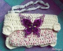 crochet wedding purse