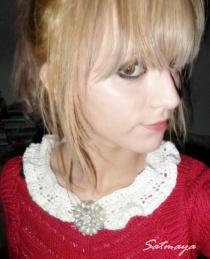 crochet white collar