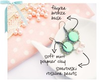 tad9 soft mint earrings