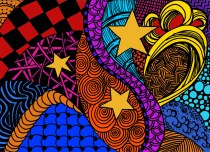 Zentangle Initial Colors