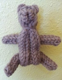 Spool Knit Teddy Bear