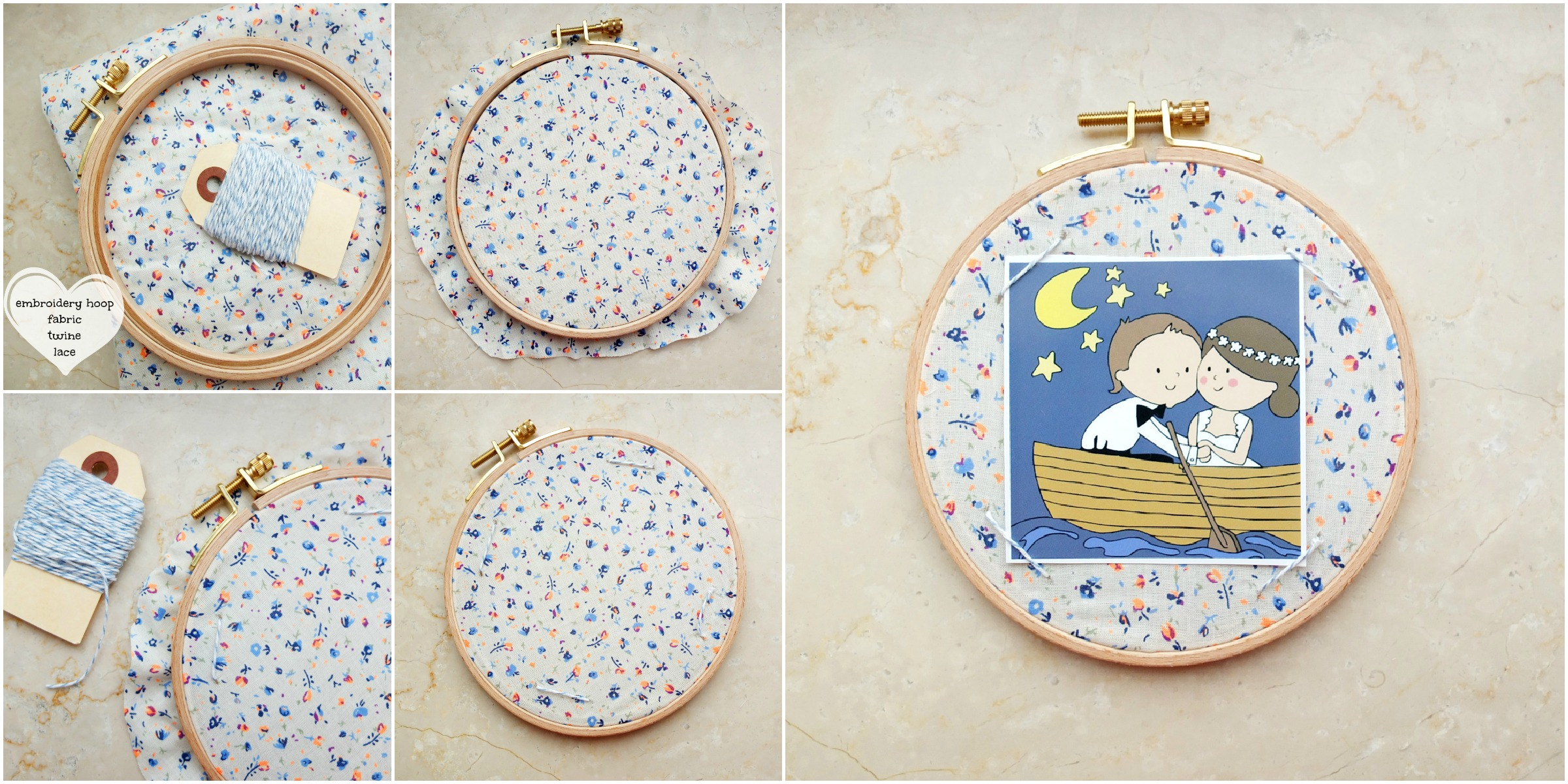 Day 3: Embroidery Hoop Photo Frame | Thing-a-Day Forever
