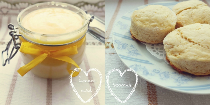 lemon curd and scones