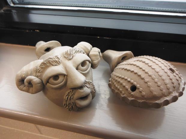 Stoneware Ocarinas: make 14