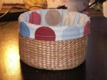Round Bathroom Basket