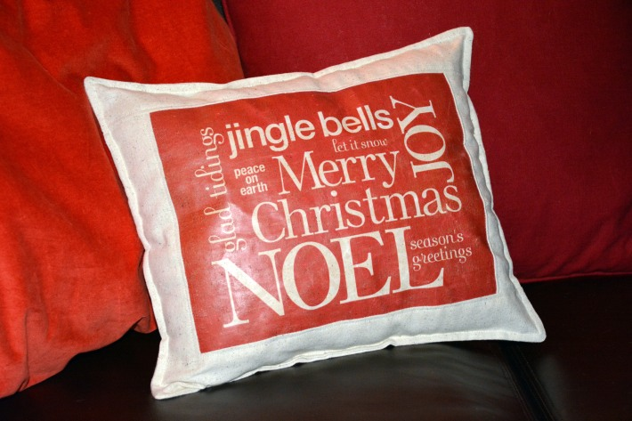 Day 2: Christmas Saying Pillow
