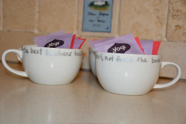 Day 7: Teacher Appreciation Tea Cups