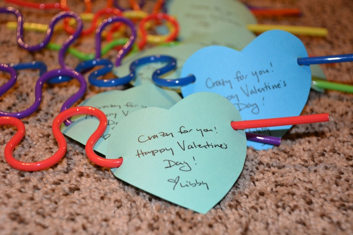Day 9: Crazy Straw Valentine's Day Cards