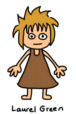 a drawing of a small feral child