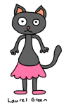 a drawing of a cat wearing a tutu
