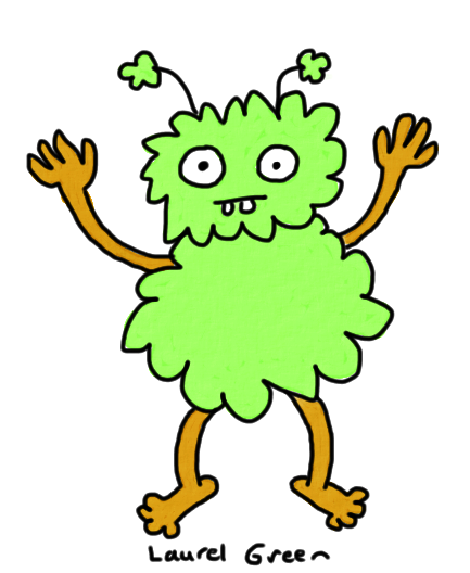 a drawing of a weird creature